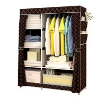 Минималистский современный усиленный большой шкаф DIY нетканый складной портативный шкаф для хранения одежды пылезащитный чехол гардероб