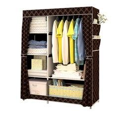 Moderno minimalista reforçado grande guarda-roupa diy não-tecido dobrável armário de armazenamento de roupas portátil à prova de poeira armário de pano