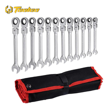 цена на 12 PCS Ratchet Combination Wrench 8-19 mm Car Repair Hand Tool Adjustable Gear Nut Wrench With Ratchet Box End Open Spanner