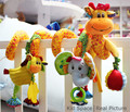 Carrinho de Bebê Brinquedos Do Bebê recém-nascido 0-12 Meses de Pelúcia Brinquedos Animal Bebê Cama Carrinho de bebê Pendurado Brinquedos Educacionais Do Bebê Chocalho Chocalhos Juguete