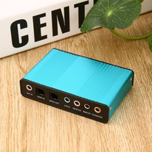 High Quality Professional External USB Sound Card Channel 5.1 Optical Audio Card Adapter for PC Computer Laptop