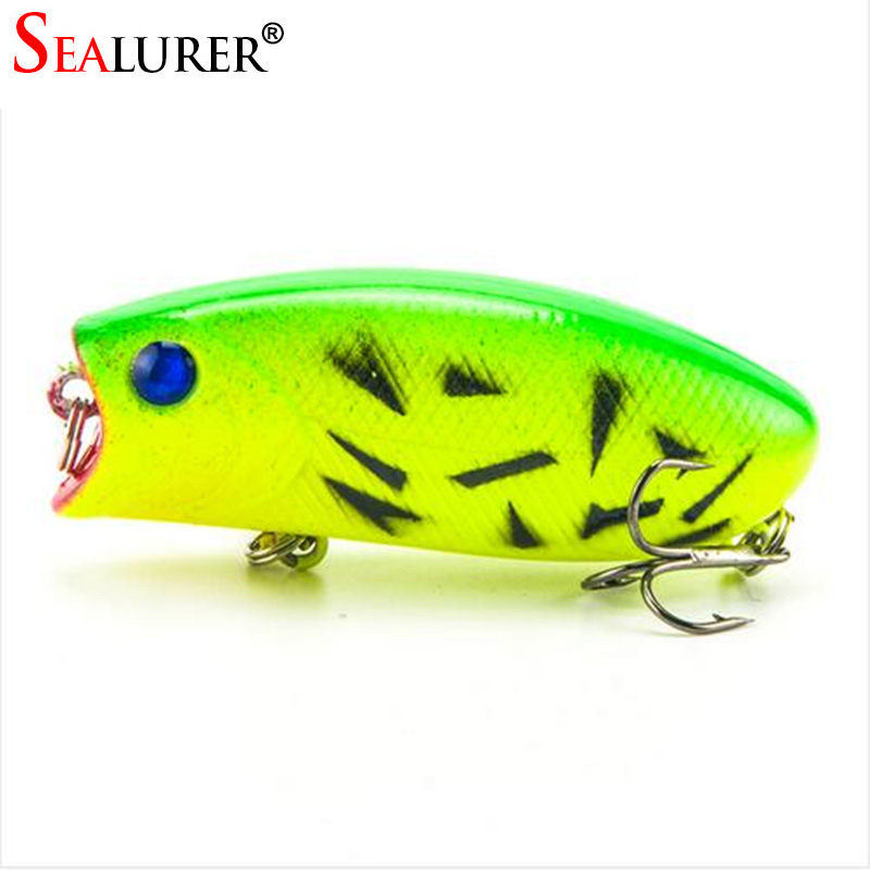 Lure Pysgota Lifelike 5.5cm 11g 8 # Hooks Pesca Fish Popper Lures Wobbler Isca Artiffisial Bait Caled Swimbait