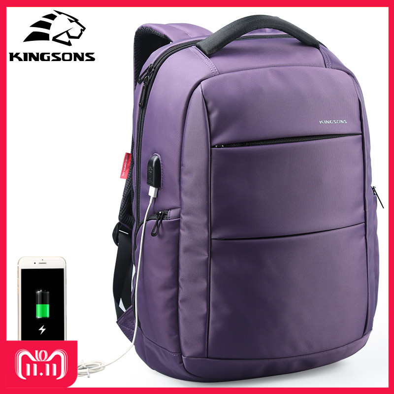 Kingsons External Charging USB Function Laptop Backpack Anti-theft Women Business Dayback Travel Bag 15.6 inch KS3142W external charging usb function laptop backpack anti theft man business dayback women travel bag 15 6 inch