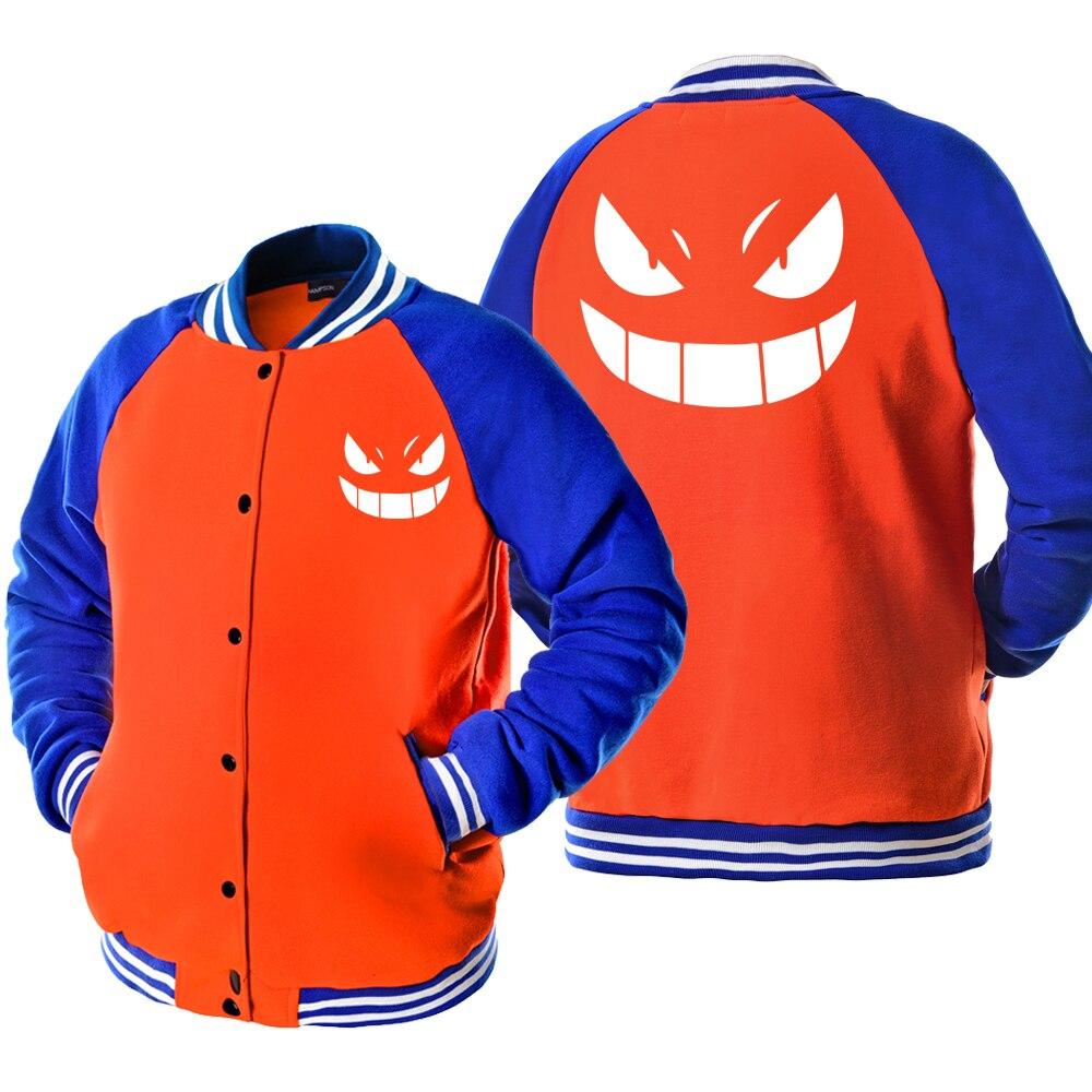 Baseball uniform Printed SWORD ART ONLINE TOKYO GHOUL ONE PIECE Fashion Anime Jacket Fleece Men's Coats Harajuku Sportswear Tops