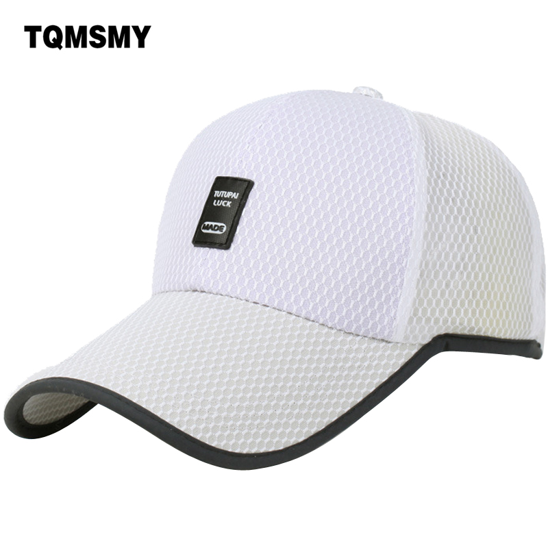 TQMSMY summer sun hat Men's women Baseball caps snapback cap quick dry visor Hip-Hop bone breathable chapeu mesh hat Men TMAT60 4pcs set smoke sun rain visor vent window deflector shield guard shade for hyundai tucson 2016