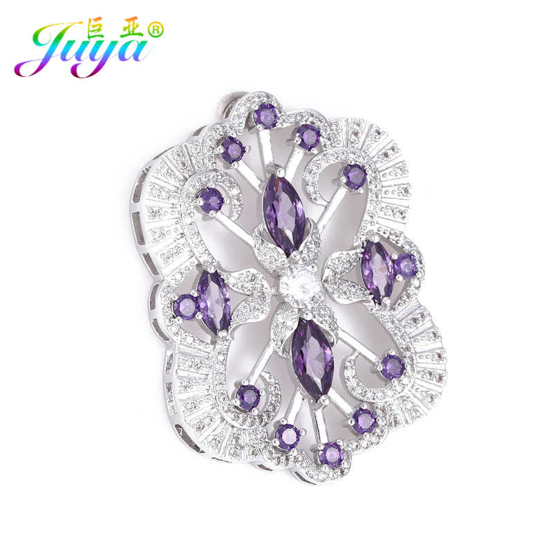Juya Beadwork Jewelry Component Handmade Floating Flower Connector Pendants Accessories For Women Sweater Pearls Necklace Making