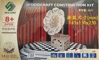 En bois 3D modèle de bâtiment jouet puzzle main travail assembler jeu woodcraft construction kit phonographe bébé d'anniversaire cadeau présent 1 pc