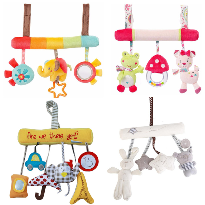 Cute Baby Toys Baby Mobile Stroller Toys Plush Playing Doll Infant Animal CribCarBed Rattles Toys Baby Seat Accessories 20%off