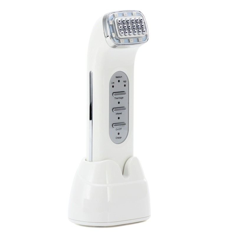 Rechargeable RF RadioFrequency Infrared Ray Skin Face Care Lifting Tightening Wrinkle Removal Facial Physical Massage Machine