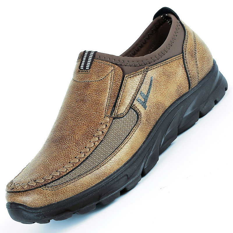 Famous Brand Sneakers Outdoor Shoes Slip On Flat Shoes Male Footwear Men Shoes Quality Leather Men Moccasins Shoes Size 38-48(China)