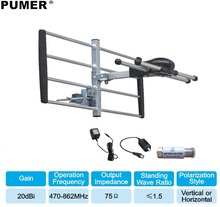 TV outdoor antenna TV antenna Digital tv receiver VHF UHF for DVB-T2 HDTV DTV ISDBT ATSC High Gain Strong Signal  PUMER