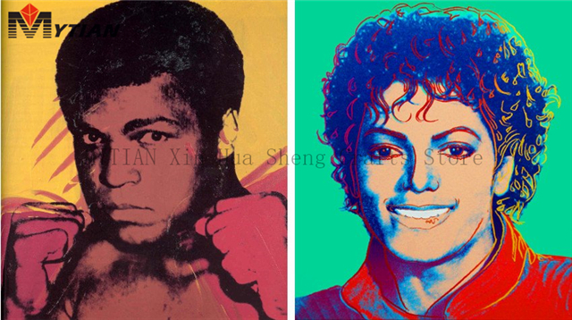 Mytian 5d Diy Diamond Painting Andy Warhol Ali And Michael Jackson Photo Custom