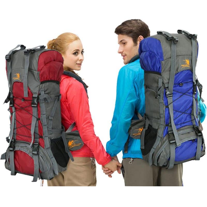 60L large men women backpack for travel climbing outdoor camping bag mountaineering bagpack mountain swisswin hiking back pack