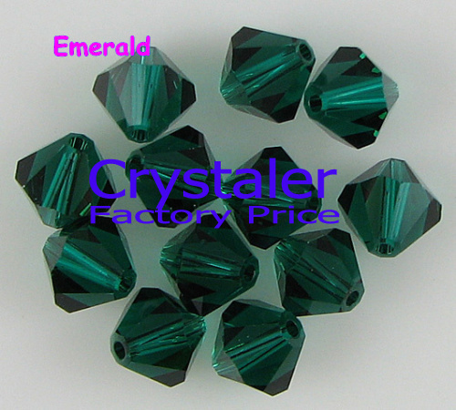 K9 Crystal Grade AAAA 5301# 3mm  4mm 6mm 8mm Emerald Color  Glass  Bicone Beads