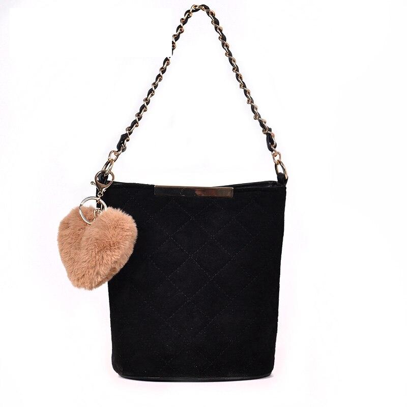 ACE любовь Новый маленькая косметичка для Для женщин ромба из искусственной кожи Дамская сумка на плечо с цепью милая форма сердца помпон дев...