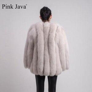 Image 5 - PINK JAVA QC1824 real fox fur coat women fur coats winter jacket natural fox clothes hot sale  high quality  fur overcoat