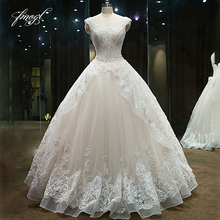 Fmogl Luxury Ball Gown Wedding Dresses 2019 Cap Sleeve