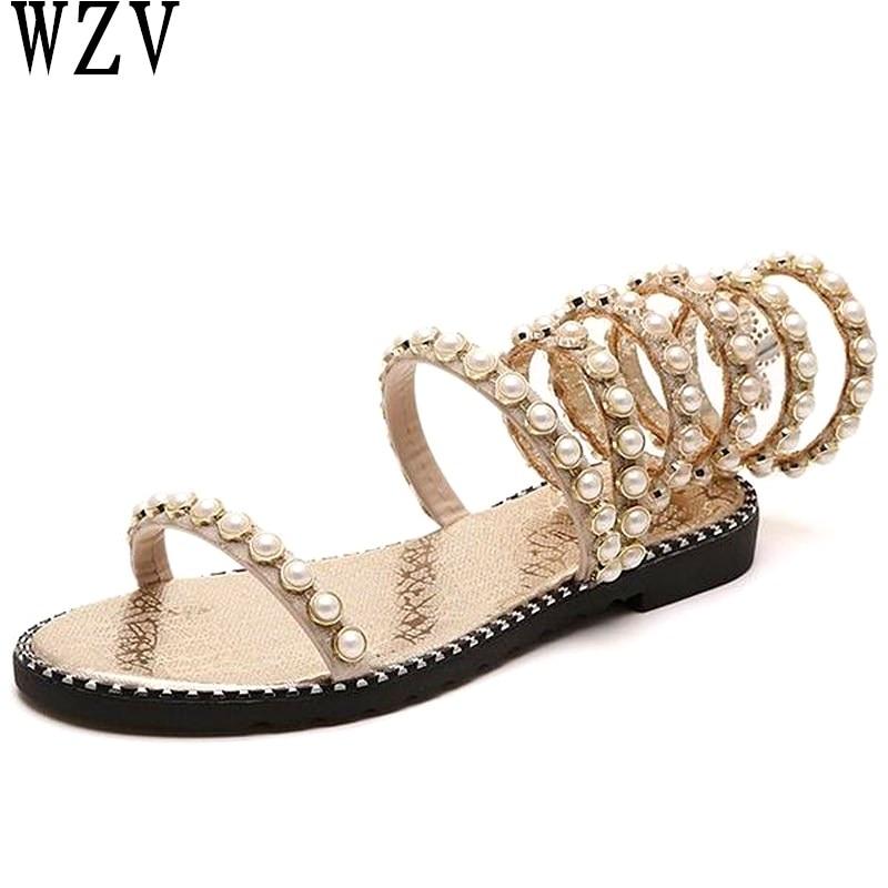 Verano Mujer 2 3gold Planas Mujeres 1 Sandalias 2019 1 Zapatos silver Las gold K733 silver gold Tobillo 3 De 2 Sexy silver Moda Nuevas TS8qTpwY