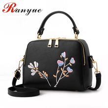 RANYUE 2017 New Fashion Embroidery Bags Women High Quality PU Leather Flower Crossbody Bags For Girls Luxury Handbags Women Bag