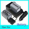 Venta caliente 2 UNIDS FP70 NP-FP70 Batería + Cargador NP Cámara Batería Recargable Para Sony