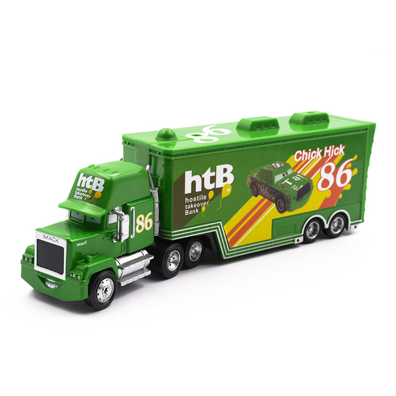 Дисней Pixar Тачки 2 3 игрушки Молния Маккуин Джексон шторм мак грузовик 1:55 литая под давлением модель автомобиля для детей рождественские подарки - Цвет: uncle 3