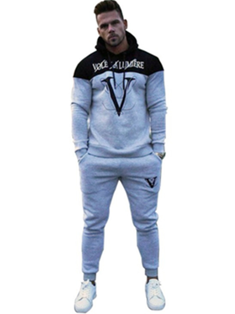 Tracksuit Sport Gymnasium Operating Males Set Sport Put on Mens Prime Health Bodybuilding Male Sport Go well with Hoodied+Pants Joggers Tracksuit Males