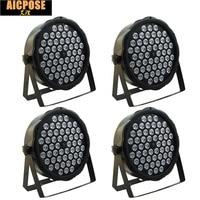 4pcs/lots led par lights 54x3W DJ Par LED 54*3w lights R12,G18,B18,W6 Wash Disco Light DMX Controller effect