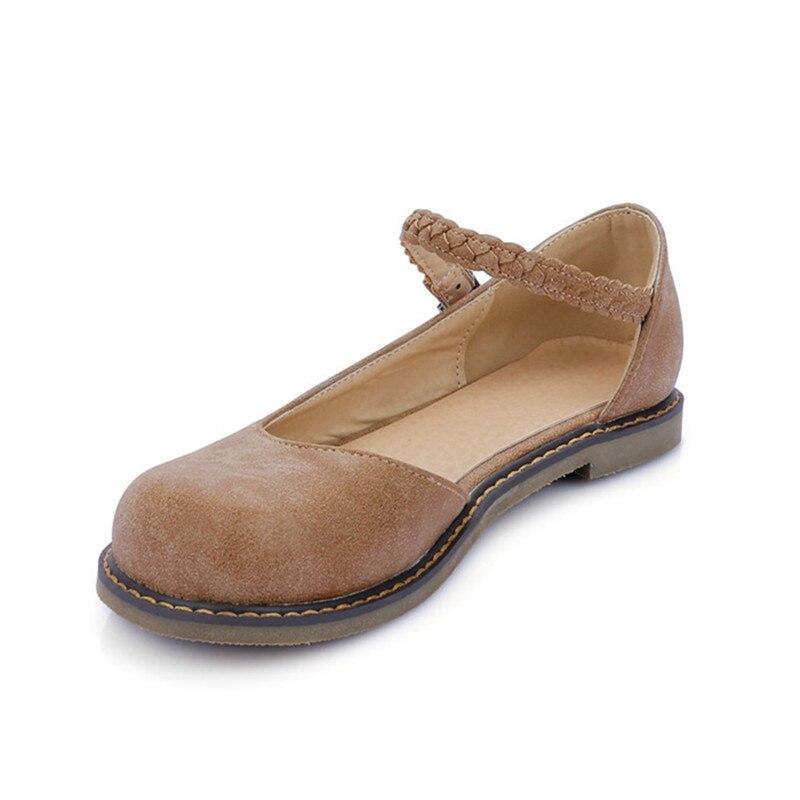 Mary Jane Plataforma Punta redonda Zapatos de Mujer de Verano 2017 Transpirable