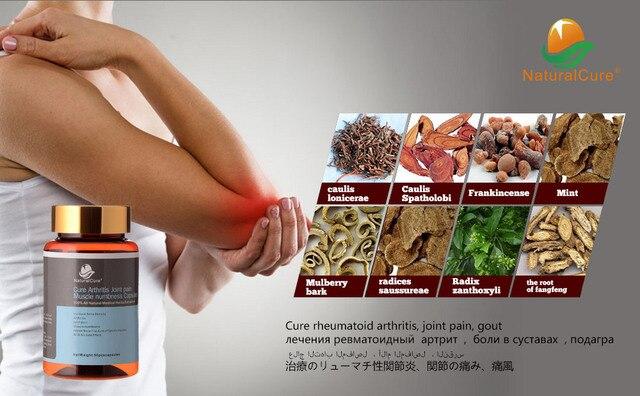 Curar La Artritis NaturalCure Caps-dulos, cura RA, Entumecimiento Dolor articular y Muscular, 100% Natural de la Planta de Medicina de cines