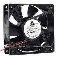 Nuevo ventilador de refrigeración DELTA AFB1224HE 12 CM 12038 alta frecuencia de volumen de aire 24 V 0.36A