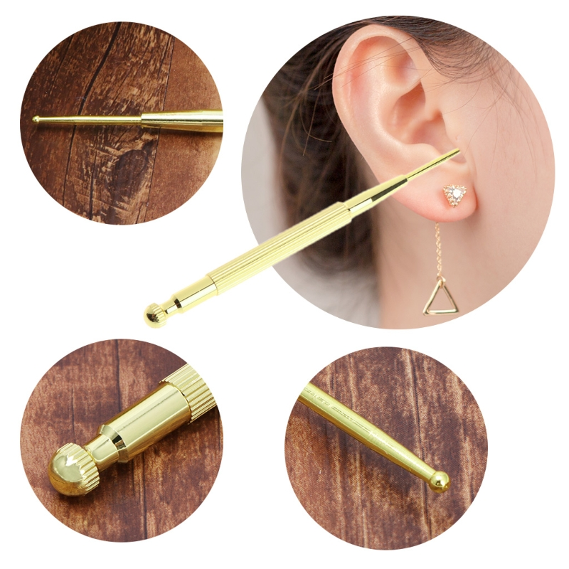Elastic Copper Auricular Exploration Detection Point Pen Ear Acupressure Massage in Massage Relaxation from Beauty Health