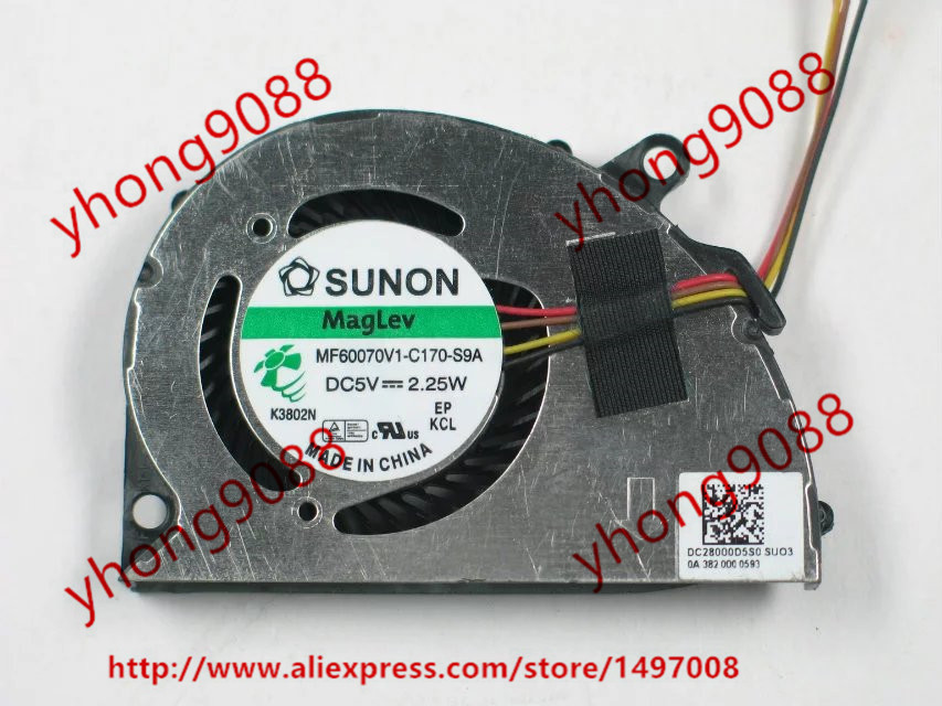 Free Shipping For   SUNON MF60070V1-C170-S9A DC 5V 2.25W 4-wire 4-pin connector Server Laptop Fan free shipping for sunon eg50040v1 c06c s9a dc 5v 2 00w 8 wire 8 pin server laptop fan