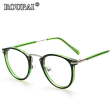 ROUPAI Brand 2017 Fashion Hipster Women Optical Glasses Frames Vintage Classic Men Clear Lens Eyeglasses Spectacle Frame oculos
