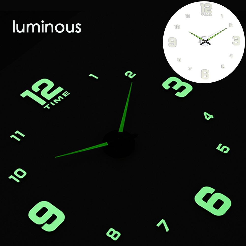 27 различных дизайнов светящиеся настенные часы современный дизайн настенные цифровые большие Big3D DIY модные Saat Reloj Horloge klok - Цвет: wall clock 1