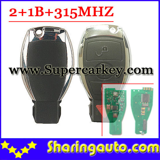 ФОТО Free shipping 2+1 Button Remote Key 315MHZ For Benz Smart key(97-15)(1piece)