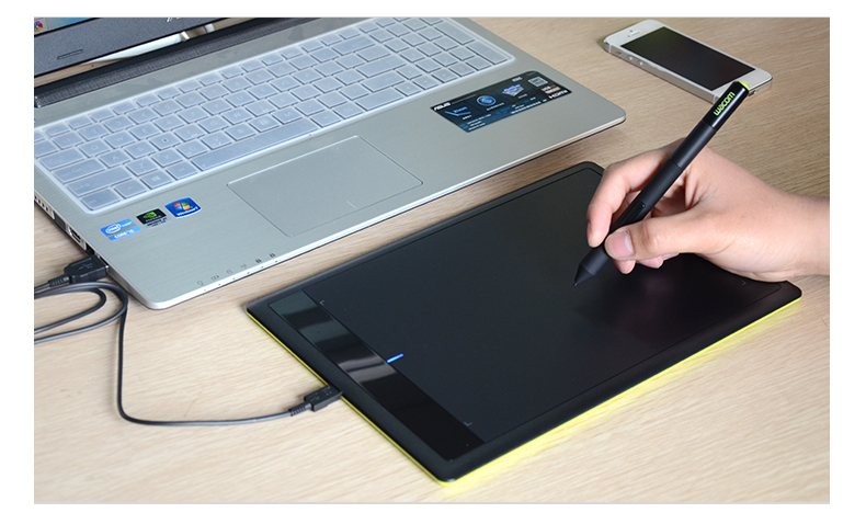 One by Wacom CTL 671 Digital Graphic Drawing Tablet Pad 1024