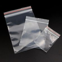 100Pcs/lot Transparent Rectangle Plastic Jewelry Zip Locked Pouches Gift Bag Sachet Packaging For Party Wedding Engagement Beads