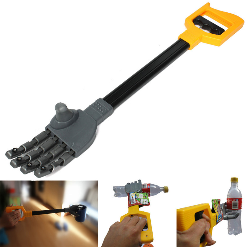 все цены на High Quality Plastic Robot Claw Hand Grabber Grabbing Stick Kid Boy Toy Move And Grab Things DIY Robot онлайн