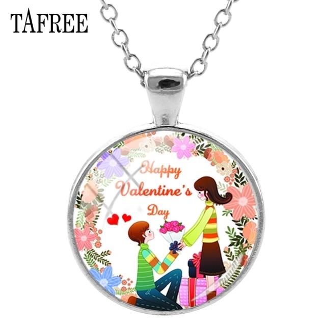 TAFREE Happy Valentine's Day Pendants Necklaces Romantic Attractive Choker Necklaces Long Chain Statement Pendants Jewelry QR12