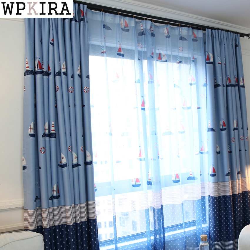 Boy Girl Bedroom Cortinas Living Room Blue/Pink Blackout Curtains Custom Made Drapes Children Cloth Curtains For Kids S104&30