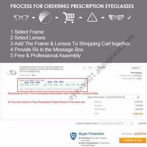 Image 5 - BCLEAR lunettes à indice élevé ASP, 1.74, Anti Radiation, verres progressifs, multifocale gratuite, degré personnalisé