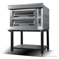 Commercial electric oven pizza oven toaster 2 deck 4 trays Double layer Cake Bread fruit pie moon cake oven for baking 380v14kw