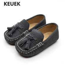 New Children Loafers British style Genuine Leather Shoes Boys Girls Tassel Comfortable Spring/Autumn Kids Student Shoes 018(China)