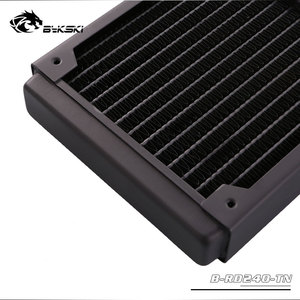 Image 5 - BYKSKI 28mm Thick Copper 240mm Computer Water Discharge Liquid Heat Exchanger Single Row Radiator for 12cm fans B 240RD M