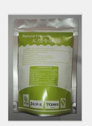 La naturaleza Chlorophyta Chlorella Vulgaris orgánica alga verde No contaminación proteína rica