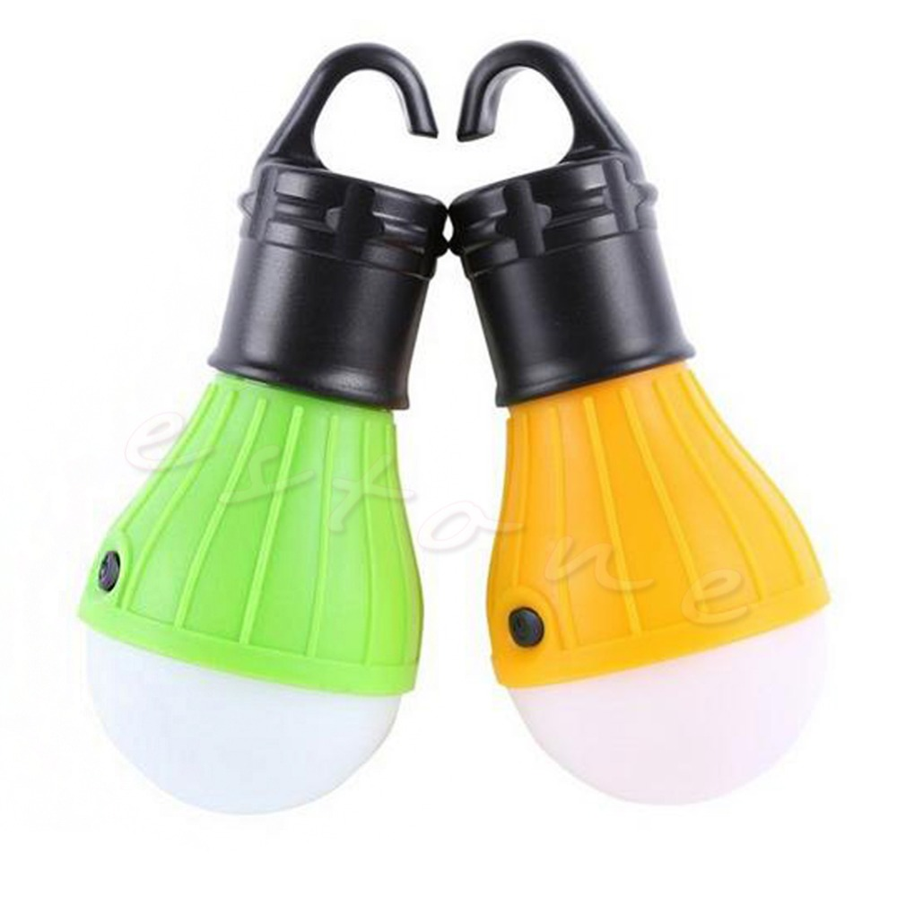 Portable Hanging Hook 3LED Camping Tent Light Outdoor Fishing Lantern Lamp Torch