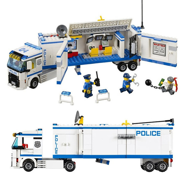 City Police Mobile Police Unit building blocks Action Figures Model Toys educational bricks compatible with lego 60044 best gift compatible lepin city block police dog unit 60045 building bricks bela 10419 policeman toys for children 011