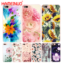 HAMEINUO peony sunflower Flower daisy cell phone Cover case for iphone 6 4 4s 5 5s SE 5c 6s 7 8 X plus