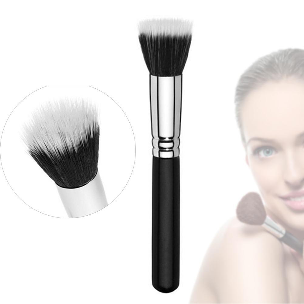 New Cosmetic Powder Brush Skin Care Black 187 Duo Fiber Stippling Mineral Blush Foundation Powder Beauty Brush Makeup Tools