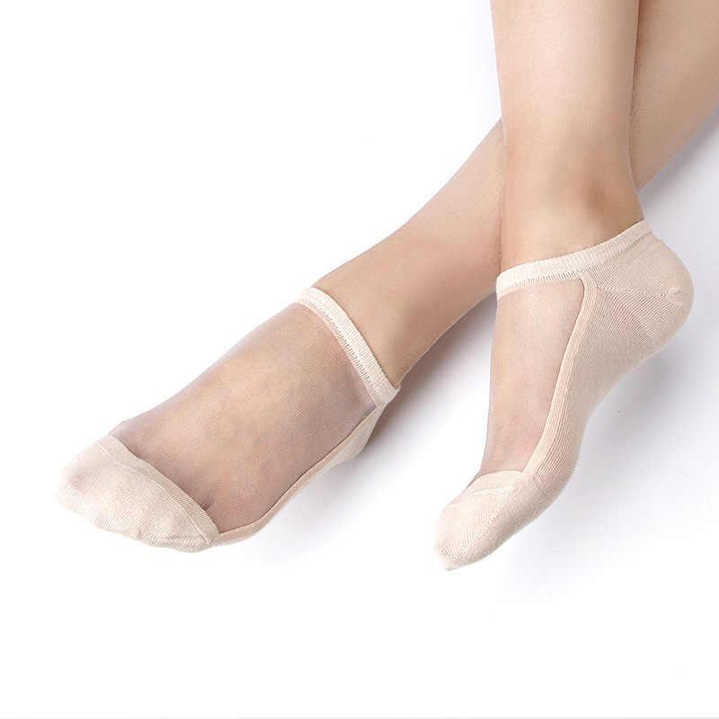 Sexy Kant Mesh Zijden Visnet Sokken Fiber Transparante Stretch Elasticiteit Enkel Netto Garen Dunne Vrouwen Koele Sokken 1 Paar = 2 Pcs TMD04